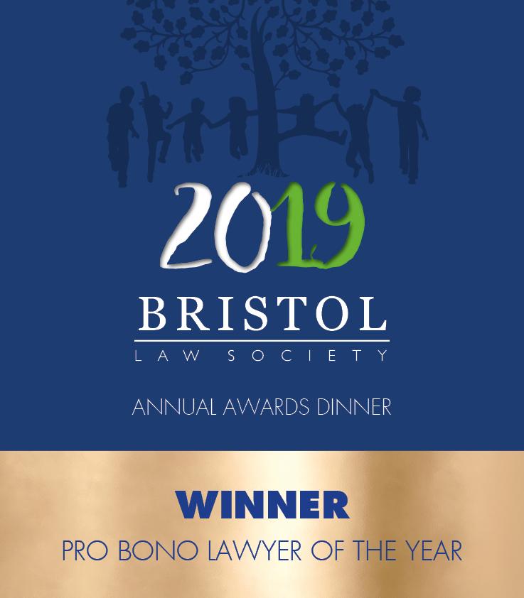 WINNER - Pro Bono Lawyer of the Year
